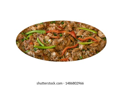 meat with rice dish with raise