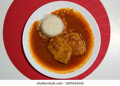 Meat with rice light food