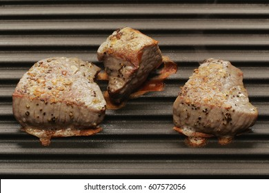 Meat roasted on grill