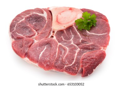 Meat steak isolated on the white background.