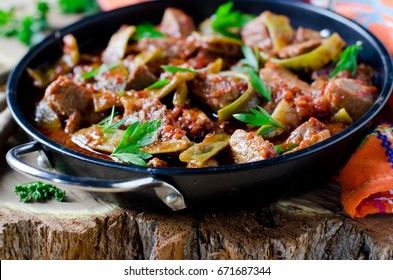 Meat stew with green beans