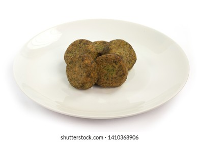 Meatballs of various vegetables cooked in the oven
