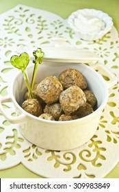 meatloaf vegetarian lentils rice ball vegetables