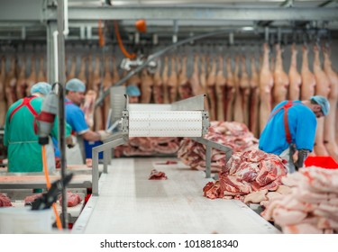 meat-packing plant sausage production sausage sausages forcemeat meat pork meat bones  beef bone production butcher lard pork leg cut meat