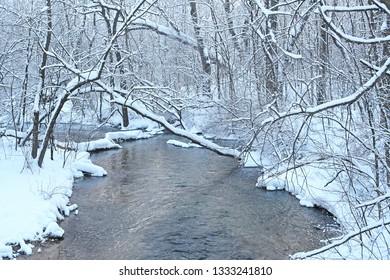 Mecan River In Winter