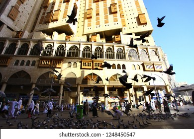 Mecca, Saudi Arabia (08/2018) : Daily life in street of holy city Mecca, during hajj and umrah period.