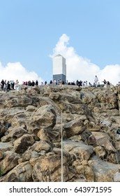 MECCA, SAUDI ARABIA - MAY 21: Muslims at Mount Arafat (or Jabal Rahmah) May 21, 2017 in Arafat, Saudi Arabia. This is the place where Adam and Eve met after being overthrown from heaven.