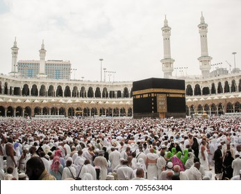 Mecca, Saudi Arabia. - Nov 7,2009; Tawaf (circling) is one of the Islamic rituals of pilgrimage. During the Hajj and Umrah, Muslims are to go around the Kaaba 7 times, in a counterclockwise direction.