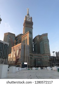 MECCA, SAUDI ARABIA - NOVEMBER 30 2018: Abraj Al Bait or Clock Tower is the tallest building in Saudi Arabia. This is a hotel and shopping center near Al-Haram and Kaaba