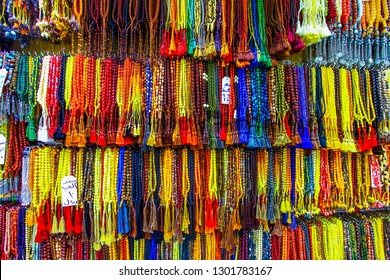 Mecca, Saudi Arabia : Prayers beads, gift from Saudi Arabia during hajj and umra from Ja'fariyah Market (08/2018).