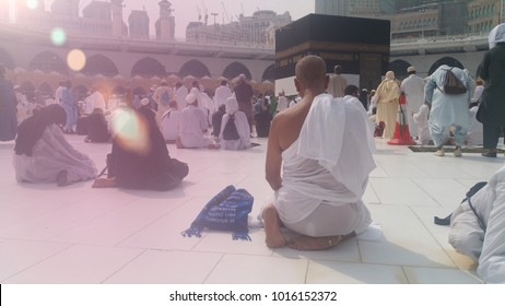 MECCA, SAUDI ARABIA, September 2016 - Muslim pilgrims from all over the world gathered to perform Umrah or Hajj at the Haram Mosque in Mecca, Saudi Arabia, days of Hajj