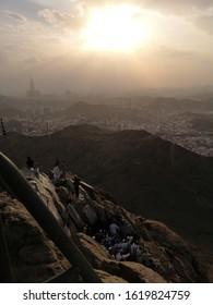 Mecca, Saudi Arabia-20th December 2019: Muslim awaiting their turn to enter Cave Of Hira.