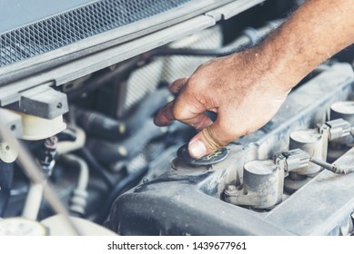 Mechanic Car Service in automobile garage auto car and vehicles service mechanical engineering. Automobile mechanic hands car repairs automotive technician workshop center. Services car engine machine