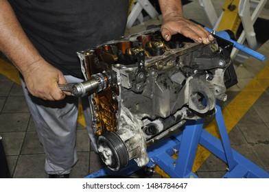 Mechanic repairman. Car mechanic at automobile engine repair.