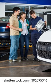 Mechanic Showing Alloy To Couple