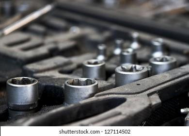 Mechanic socket detail