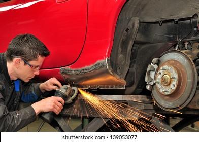 Mechanic at work.