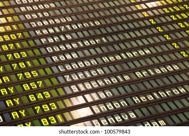 mechanical airport time table