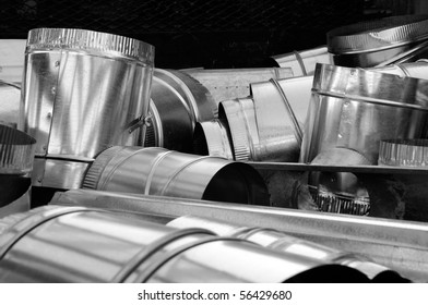 Mechanical contractors maintain large stocks of sheet metal