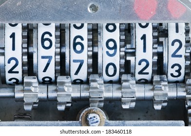mechanical counter close up