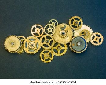 Mechanical design mechanism close up, background - Shutterstock ID 1904061961