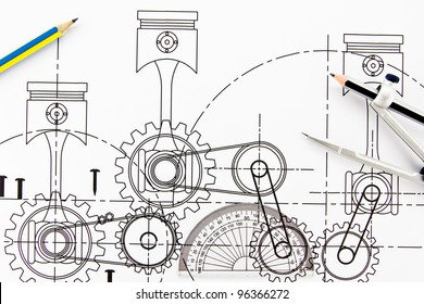 Mechanical Drawing Images Stock Photos Vectors Shutterstock