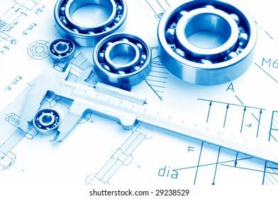 mechanical drawing and tools/ bearing