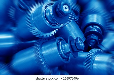 Mechanical equipment gear in a factory, closeup of pictures, north China