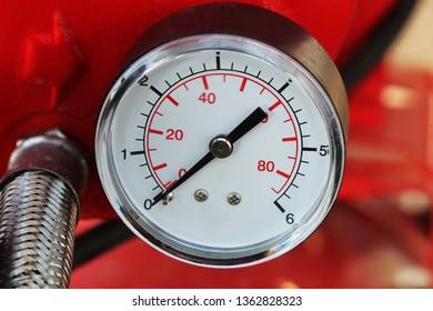 Mechanical pressure gauges. Traditional instruments for measuring pressure.