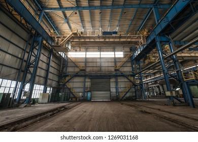 mechanical repair shop of an abandoned
