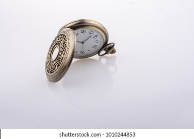 Mechanical retro styled pocket watch in view