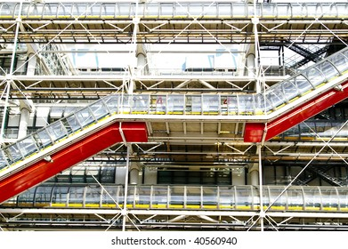 mechanical stairs in hightech building