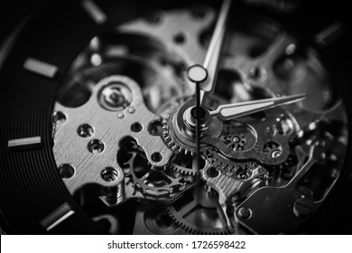 mechanical watch black and white