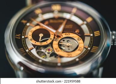 Mechanical watch up close