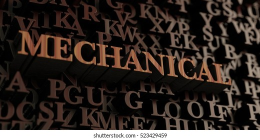 Mechanical - Wooden 3D rendered letters/message.  Can be used for an online banner ad or a print postcard.