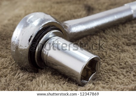 e37e0f49c54dfd Mechanics Socket Wrench On Oily Rag Stock Photo (Edit Now) 12347869 ...