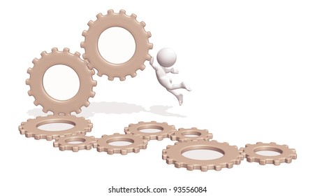 Mechanism with 3D character