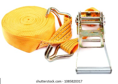 The mechanism for securing cargo ties is isolated on a white background.