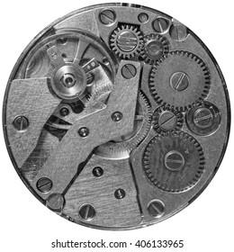 The mechanism of a wrist watch