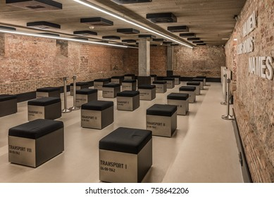 MECHELEN, BELGIUM - April 15, 2017: Kazerne Dossin in Mechelen, Belgium: Memorial, Museum and Documentation Centre on Holocaust and Human Rights.