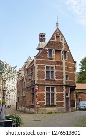 Mechelen, Belgium - July 23, 2014: Old historical buildings in the center of the city