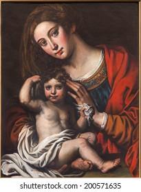 "MECHELEN, BELGIUM - JUNE 14, 2014: The ""Madonna of slaves"" by unknown painter (1620 - 1630)  in st. Johns church or Janskerk."