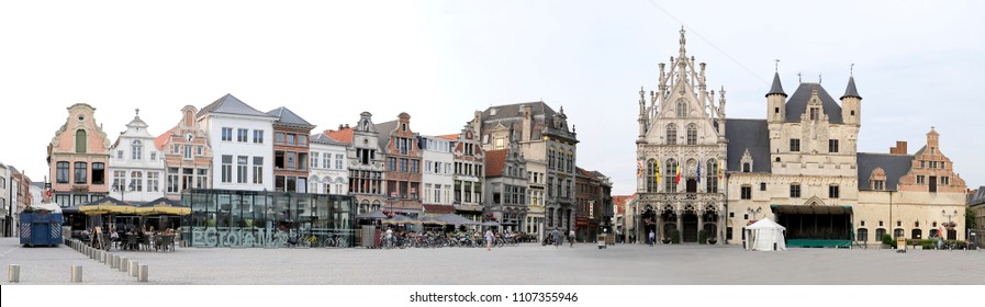 Mechelen Belgium May 29 2018 Big Market panorama photo