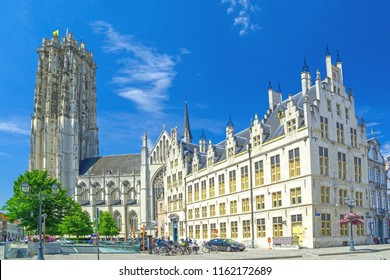 Mechelen, Belgium, tower of St. Rumbold's Cathedral