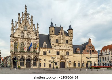 Mechelen City Hall is located on Grand Market Square (Grote Markt), Belgium