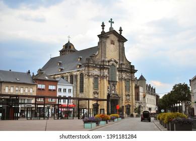 Mechelen, Flanders, Belgium - July 16, 2018: The Church of St.Peter and St.Paul in the historical city center in Mechelen
