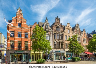 MECHELEN,BELGIUM - MAY 17,2018 - In the streets in Mechelen. Mechelen is one of Flanders prominent cities of historical art.