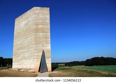 Mechernich/Germany-September 27,2016 : Bruder Klaus Field Chapel or The Brother Klaus Field Chapel. A chapel located in the remote field in Mechernich,designed by famous architect ,Peter Zumthor