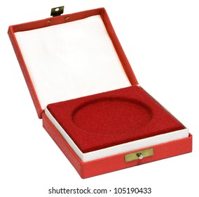 Medal box on white background.