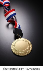 medal on the black background